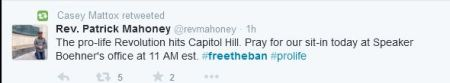 Pat Mahoney Tweet Free the ban