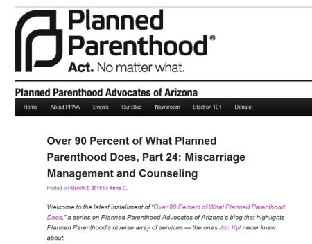 Planned Parenthood miscarriage