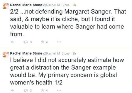 Rachel Marie Stone defends Margaret Sanger 2