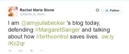 Rachel Marie Stone defends Margaret Sanger