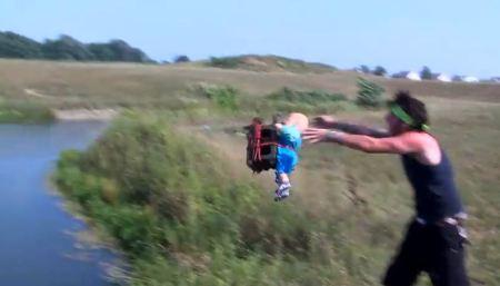 2 Baby Bashers throw lakeJPG