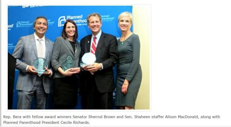 Alison McDonald Planned Parenthood Shaheen Bera Sherrod Brown