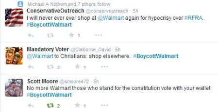 Boycott WalMart RFRA