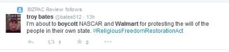 Boycott WalMart RFRA3