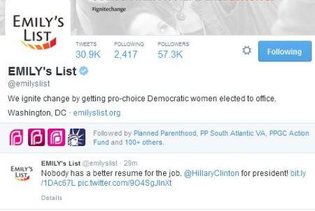 Emilys List Hillary