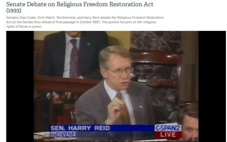 Harry Reid Religious Freedom restoration Act RFRA