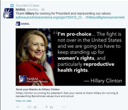 Hillary 2016 NARAL