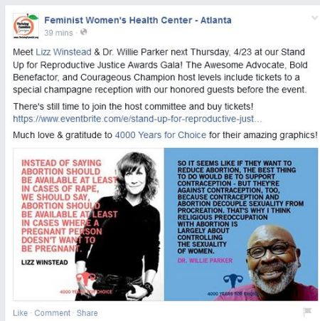 Lizz Winstead Willie Parker FWHC abortion clinic