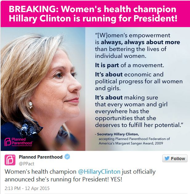 planned parenthood hillary clinton saynsumthn s blog
