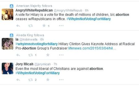 WhyImNotVotingforHillary abortion 3