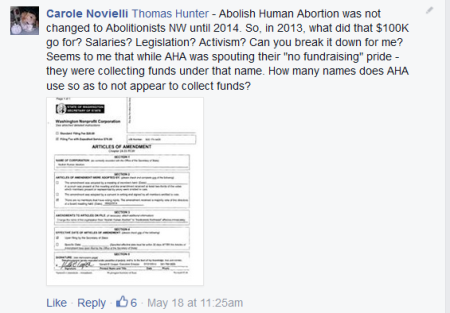 Abolish Human Abortion CN post