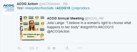 ACOG Action keep abortion legal