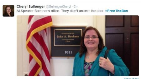 Cheryl Sullenger Boehner freetheban wont answer door