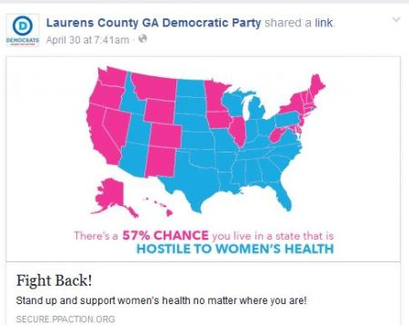 Laurens COunty GA Dem Planned Parenthood 2