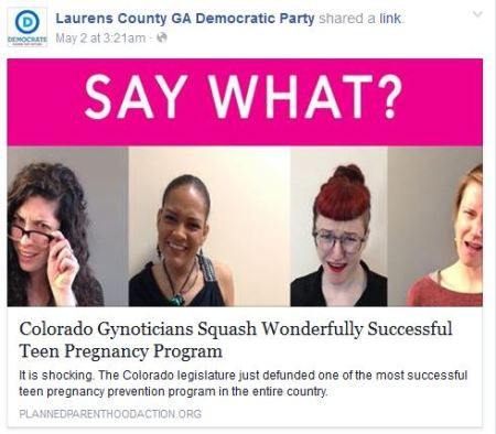 Laurens COunty GA Dem Planned Parenthood