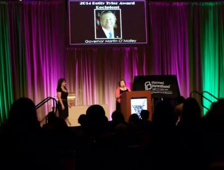 Martin OMalley abortion Planned Parenthood award