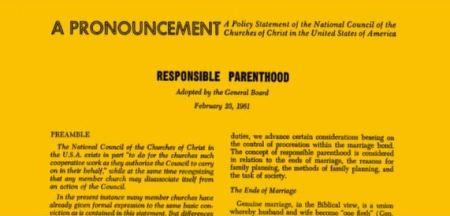 National Council of Churches Pill Responsible parenthood
