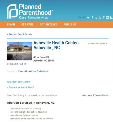 Planned Parenthood Asheville NC