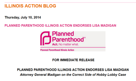 Planned Parenthood endorses Lisa Madigan