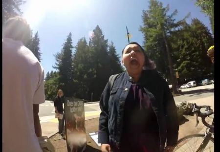 Prochoice woman almost attacks prolife Survivor 3