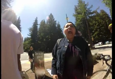 Prochoice woman almost attacks prolife Survivor 3