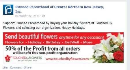 Touched by Flowers Planned Parenthood abortion eugenics