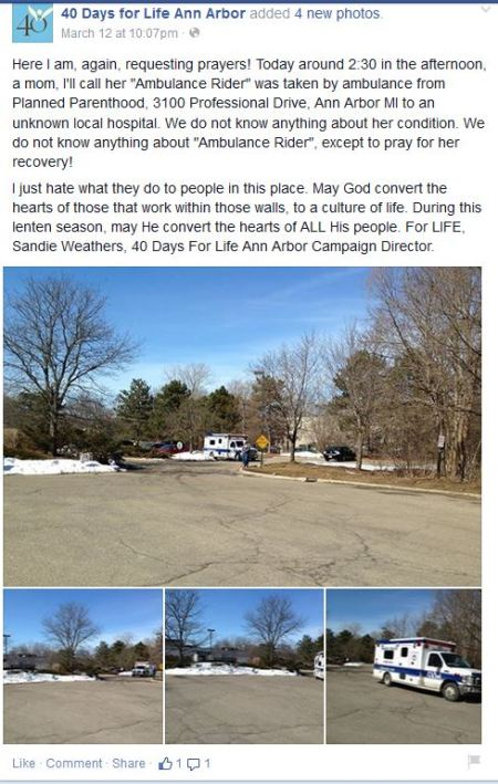 40 days for life Ann Arbor FB Page