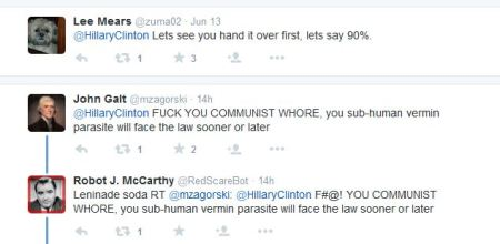 Hillary CLinton tweet replies 2