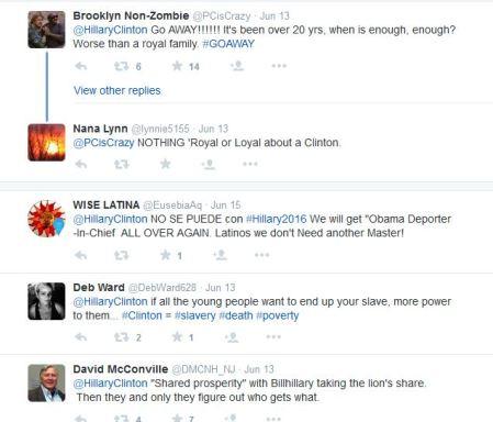 Hillary CLinton tweet replies 3