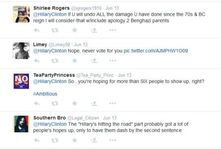 Hillary CLinton tweet replies 5