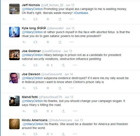Hillary CLinton tweet replies 6
