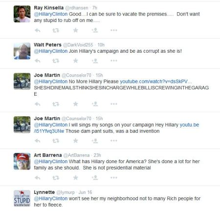 Hillary CLinton tweet replies 8
