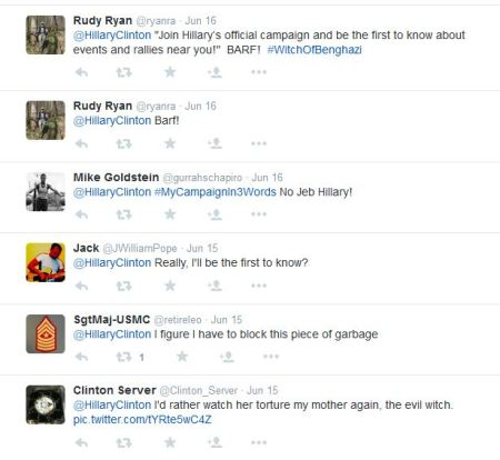 Hillary CLinton tweet replies 9