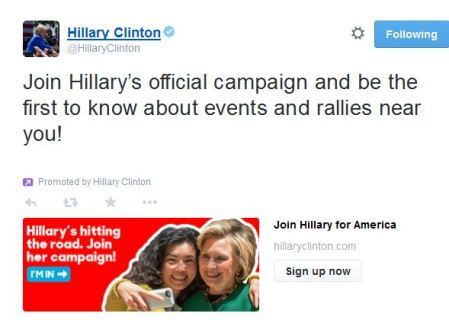 Join Hillary Team tweet