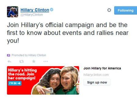 Join Hillary Team tweet