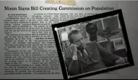 Image: Nixon Signs Commission on Population Growth and the American Future (Image credit: Maafa21)