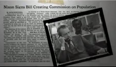 Nixon signs Commission on Popualtion Growth American Future eugenics maafa21