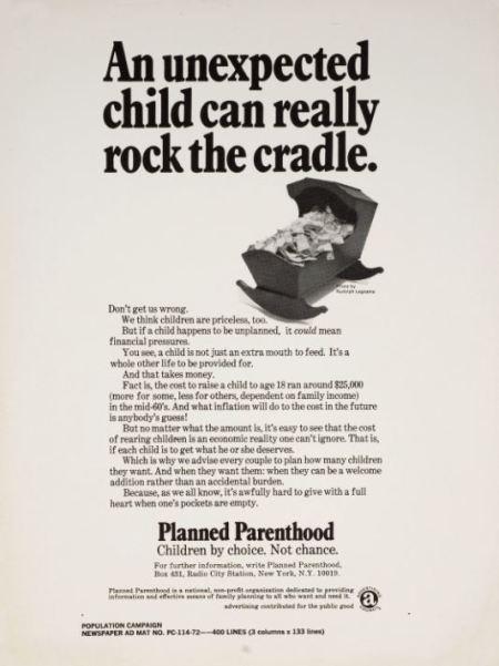 Planned Parenthood children priceless vintage poster