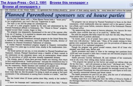 Planned Parenthood sexed house party blacks