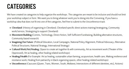 Black LIves Clevelnad Categories