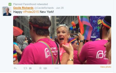 Cecile Richards Gay Pride 2015 PP