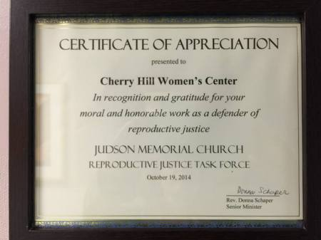 Cherry Hill Womens Center cert Rev Donna Schaper 485923493_n