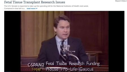 Chris Smith 1992 Fetal Tissue Research speech CSPan