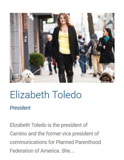 Elizabeth Toledo Planned Parenthood Camino PR Grab