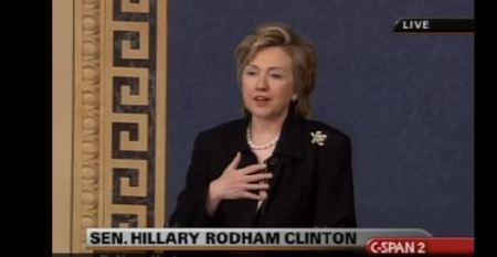 Hillary CLinton Partial Birth Abortion debate 2003