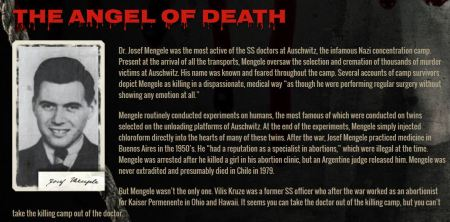 Josof Mengele Angel of Death Planned Parenthood
