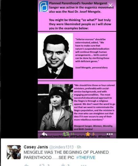 Mengele Margaret Sanger