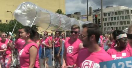 Planned Parenthood condom Gay Pride 3