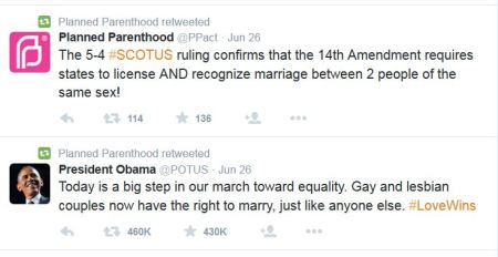 Planned Parenthood Obama SCOTUS Gay Marriage