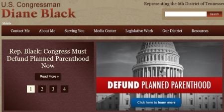 Rep Diane Black defund Planned Parenthood
